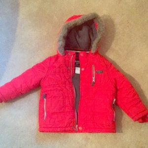 OSHKOSH B'Gosh Red Winter Coat, Girls Size 24 Mo.
